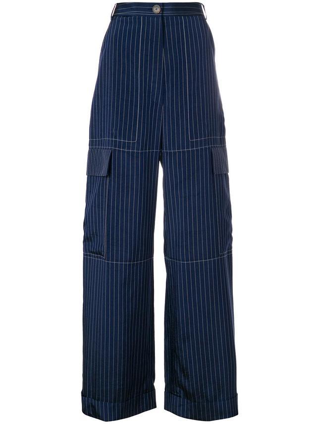 Pinstripe Cargo Trousers