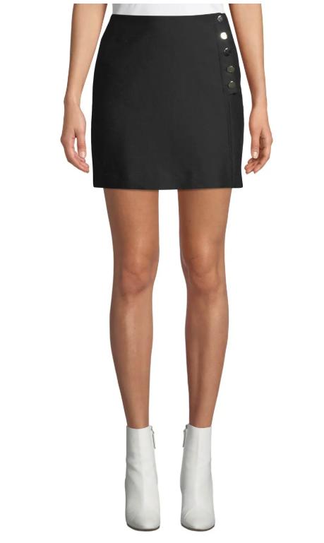 Ba&sh Peach Button-Front Short Skirt