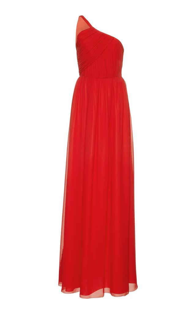 LANVIN One-Shoulder Silk Gown