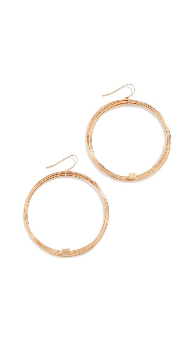 Aurélie Bidermann Tao Hoop Earrings
