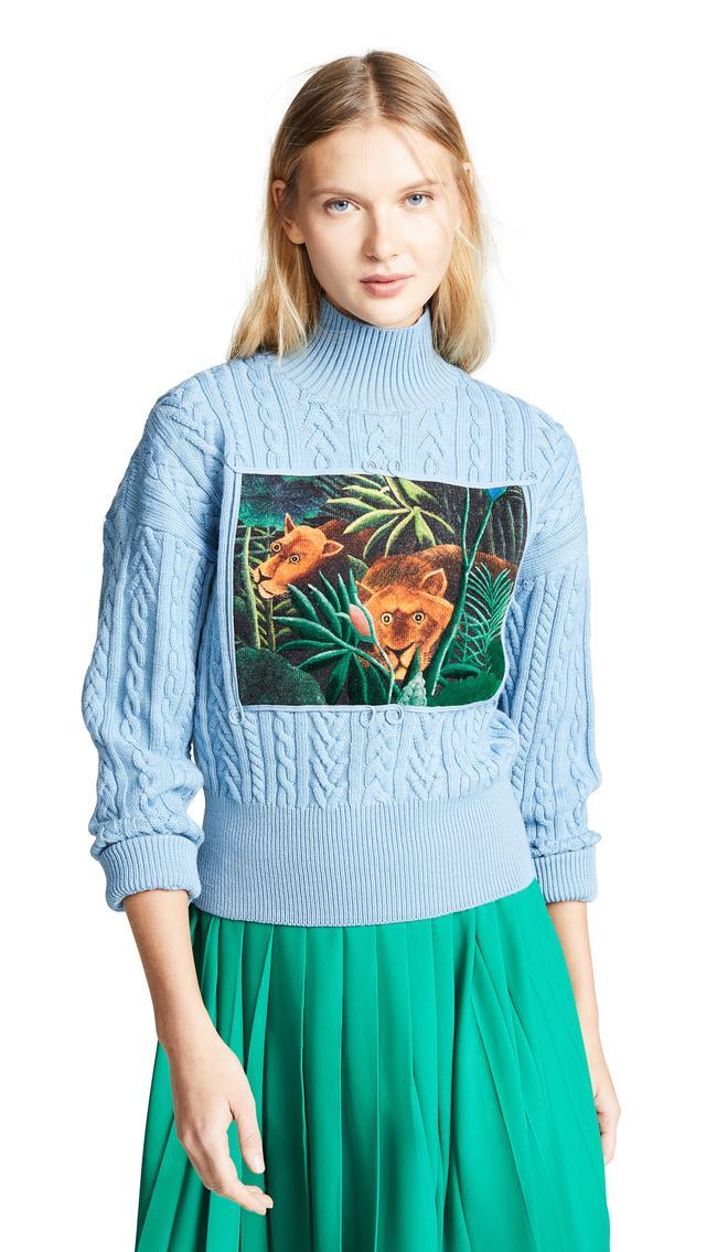 Kenzo High Collar Long Sleeve Sweater