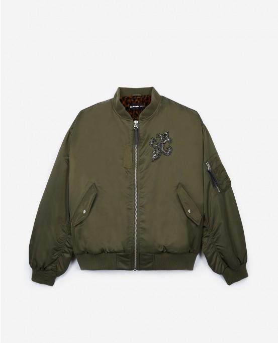 The Kooples Khaki Bomber Jacket