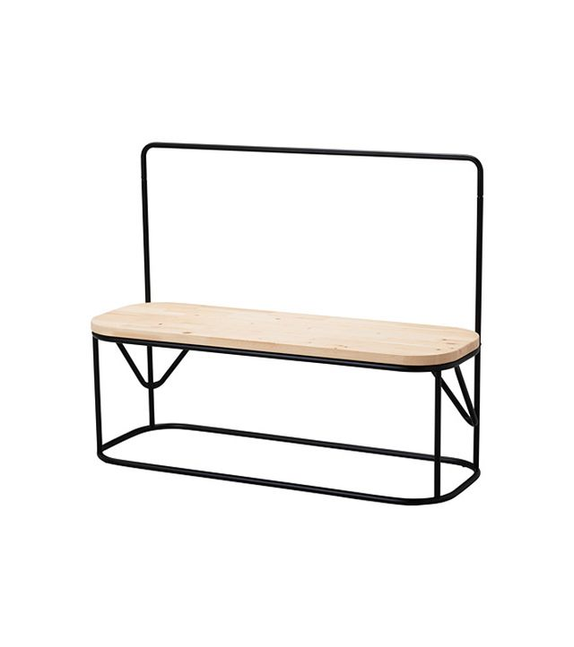 IKEA Hjartelig Bench With Clothes Rack