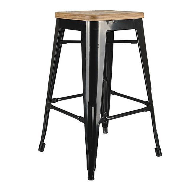 Simpel Replica Tolix Wooden Seat Bar Stool
