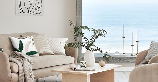 shop h m home 39 s chic serene staycation line mydomaine. Black Bedroom Furniture Sets. Home Design Ideas