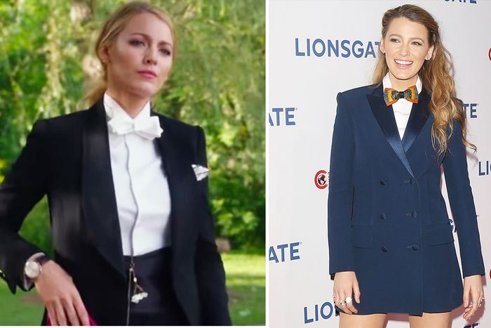 watch the trailer for blake lively 39 s movie a simple favor who what wear. Black Bedroom Furniture Sets. Home Design Ideas
