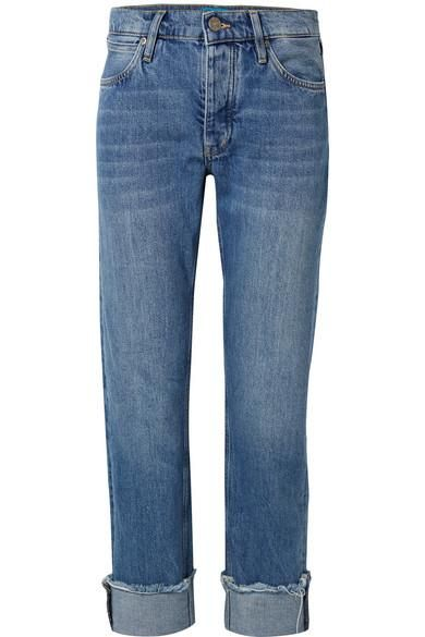 Phoebe Frayed Boyfriend Jeans