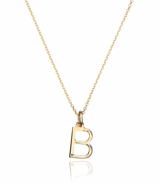 Lily and Roo Solid Gold Small Initial Letter Charm Necklace