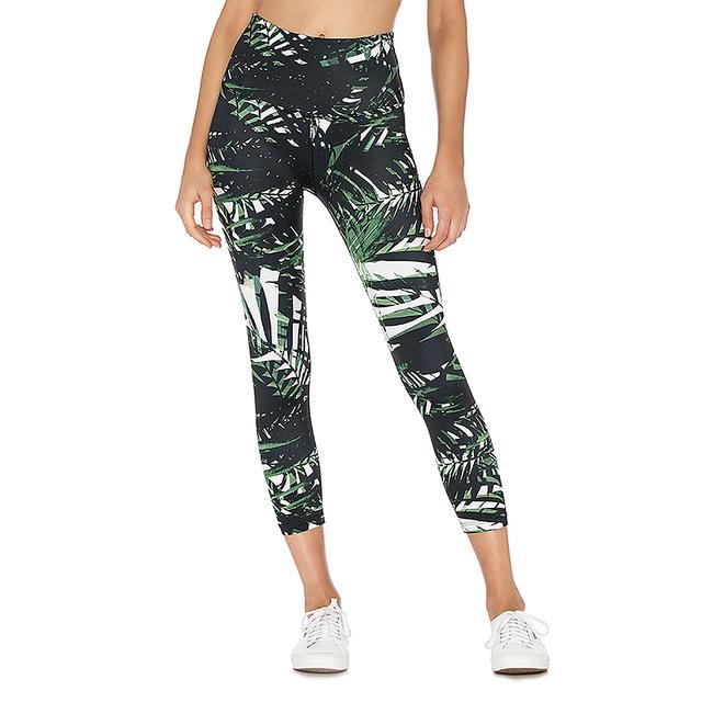 Lux Print High Waisted Midi Legging by Beyond Yoga
