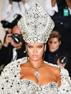 Rihanna Nailed the Met Gala Theme So Well That Even Her Makeup Was Heavenly