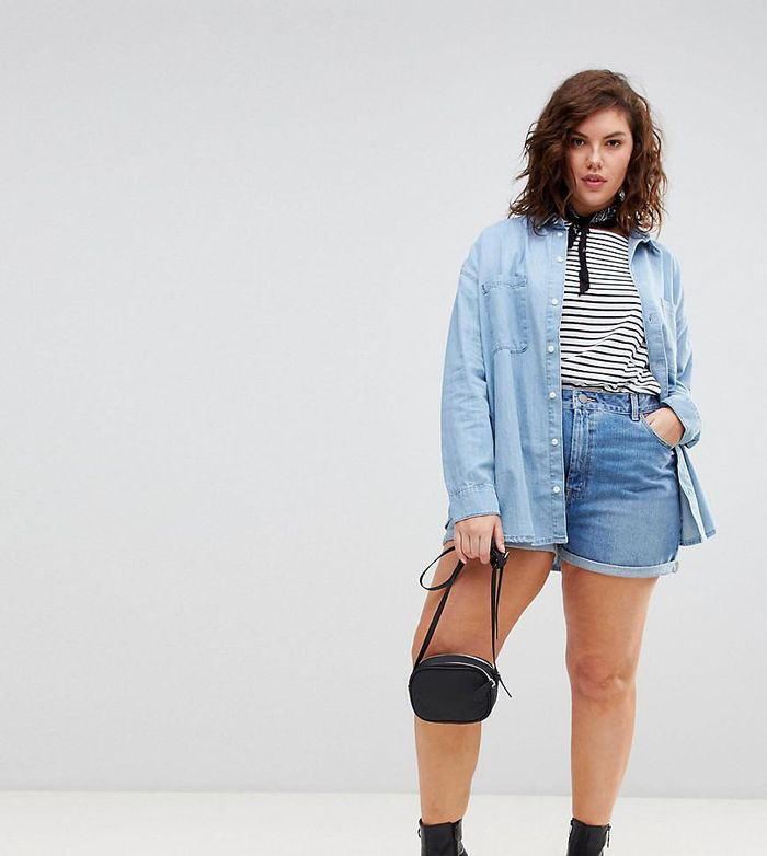 The 5 Brands With The Best Plus Size Denim Shorts Who What Wear