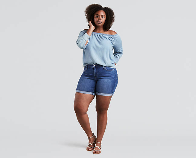 1ec0bb444d The 5 Brands With the Best Plus-Size Denim Shorts | Who What Wear