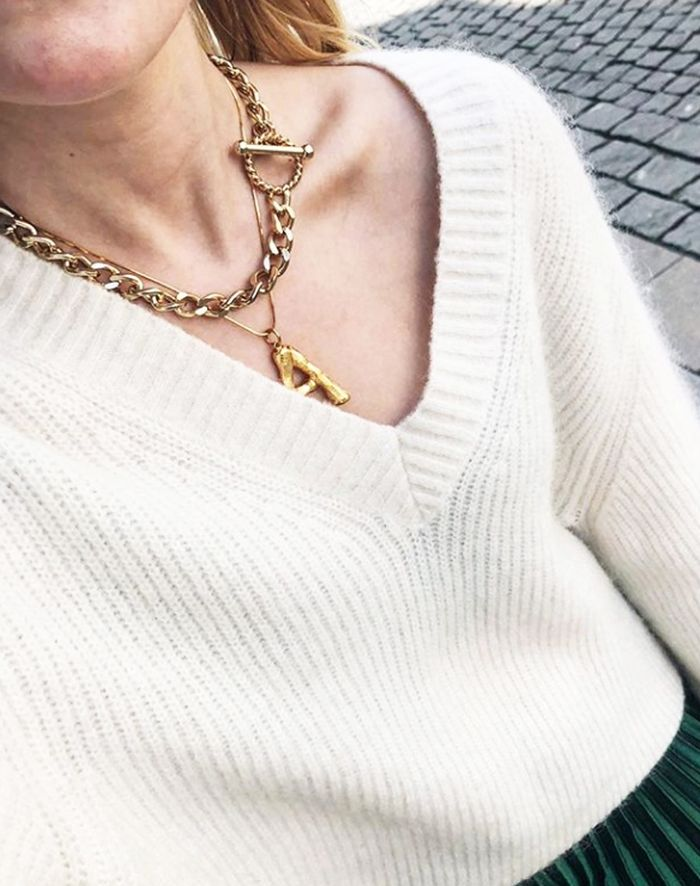 325fa408b99b2 Céline Alphabet Necklaces: The Must-Have Buy Right Now | Who What Wear