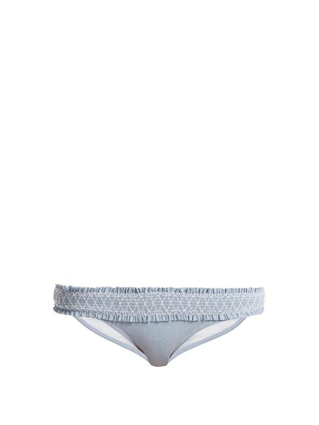 Cassis smocked bikini briefs