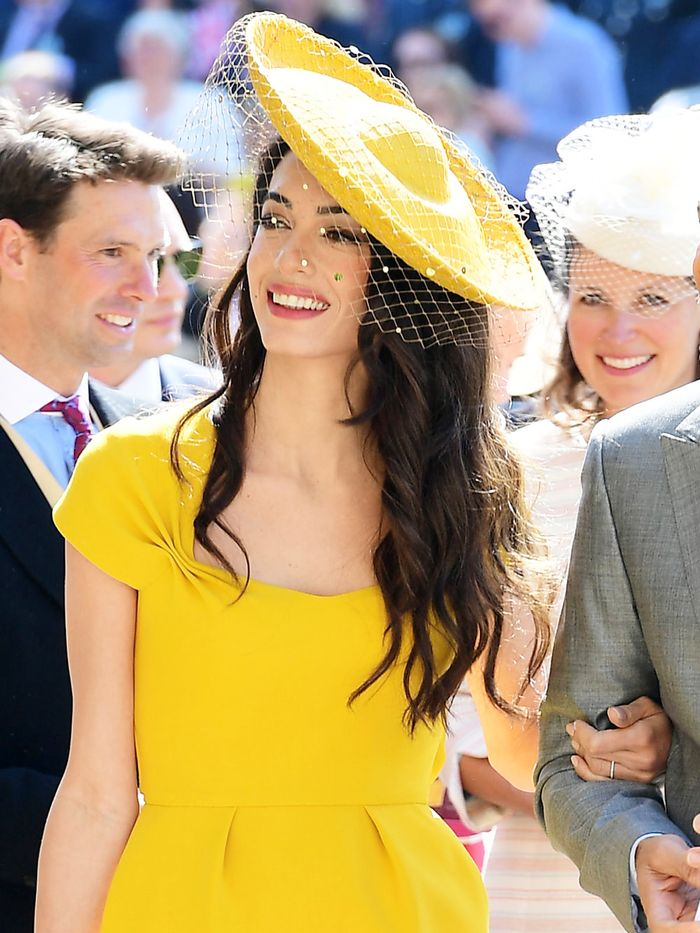 Amal Clooney Wore Bright Yellow to Meghan Markle's Wedding