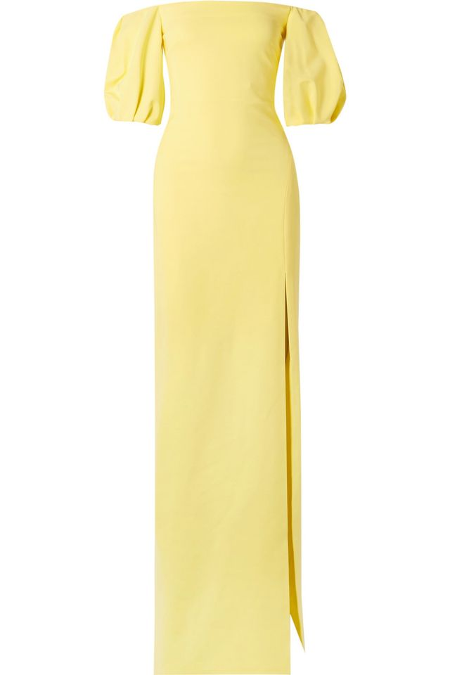 Reina Off-the-shoulder Stretch-crepe Gown