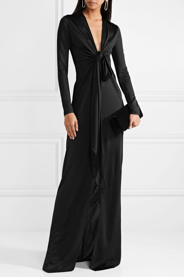 Satin-jersey Gown