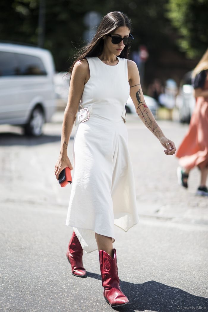 14 stylish summer outfits with cowboy boots  who what wear