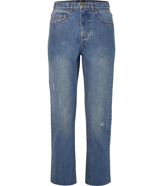 Standard Distressed High-rise Straight-leg Jeans