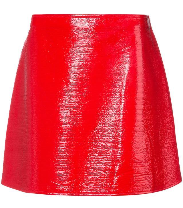 side zip mini skirt