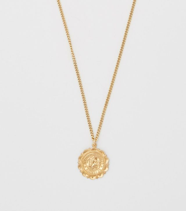 Bagatiba Saint Christopher Crest Necklace