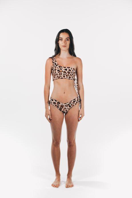 Hyams Beach Swim Luxe Drawstring Top Leopard
