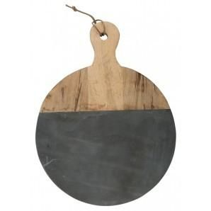 Marble Paddle Cutting Board with Copper Handle by World Market