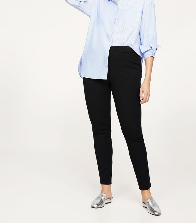 Slim-fit stretch trousers