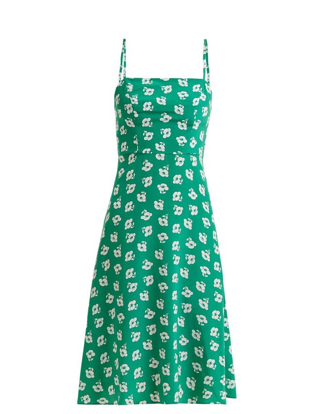 Nora floral-print silk slip dress