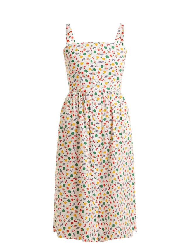 Laura fruit-print midi dress
