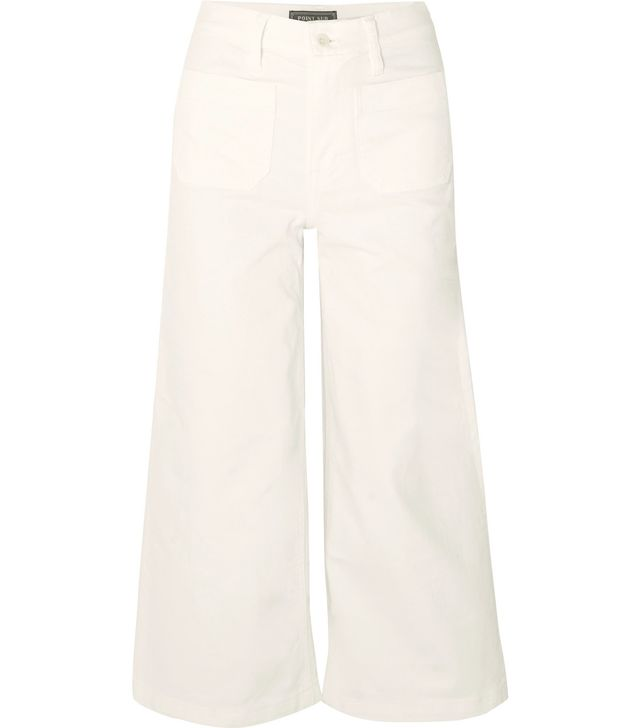 Cropped High-Rise Wide-Leg Jeans