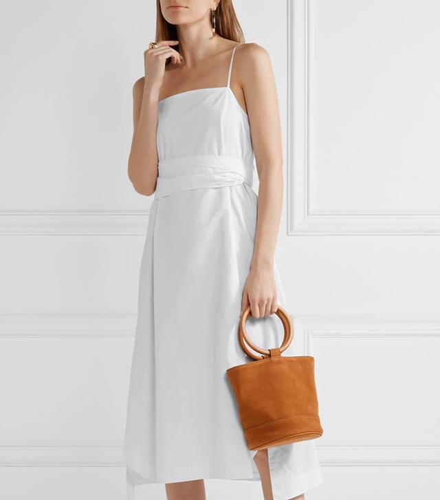 Oak Stretch-Cotton Poplin Midi Dress