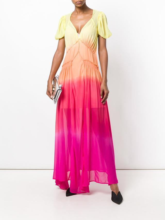 Attico Tie Dye Maxi Dress