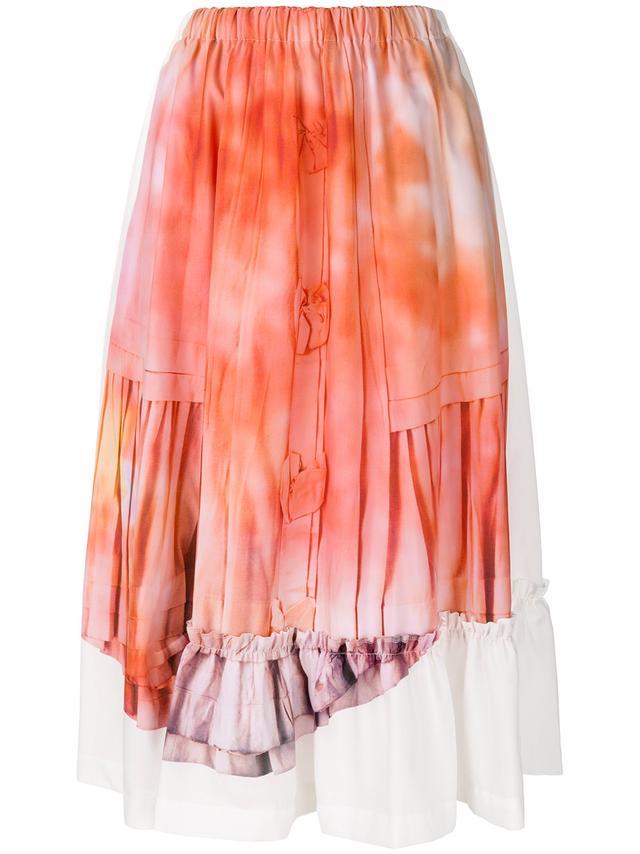Comme Des Garçons Tie Dye Midi Skirt