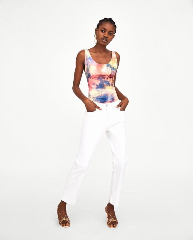 Zara Strappy Tie-Dye Bodysuit