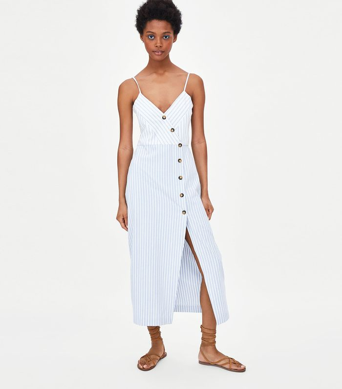 b39e267f Zara's Biggest Dress Trend of Summer 2018 | Who What Wear