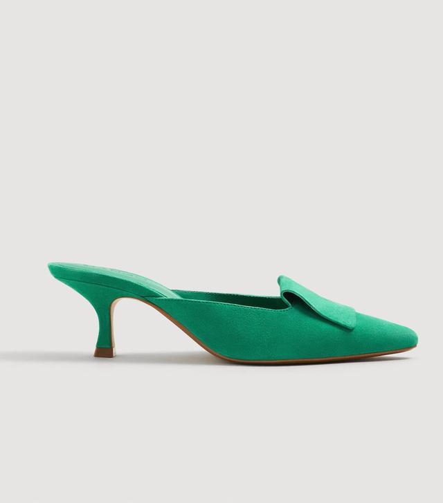 Mango Heel Leather Mules