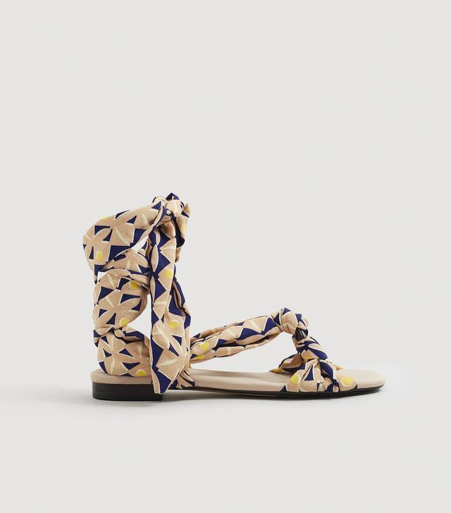 Mango Straps Printed Sandals
