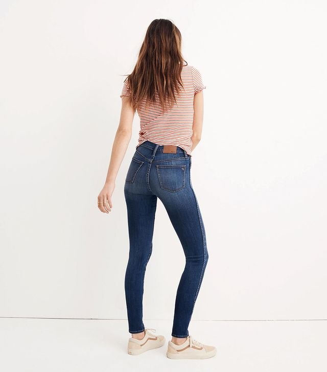 """10"""" High-Rise Skinny Jeans in Danny Wash"""
