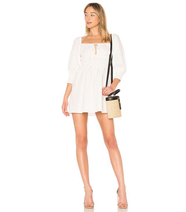 LPA Puff Sleeve Peasant Dress