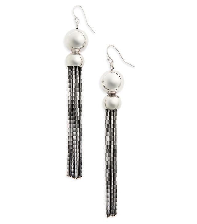 Benton Gates Silver Tassel Statement Earrings