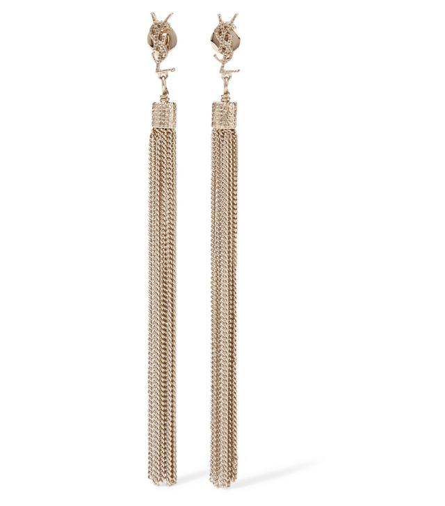 Saint Laurent Gold-Plated Tassel Earrings
