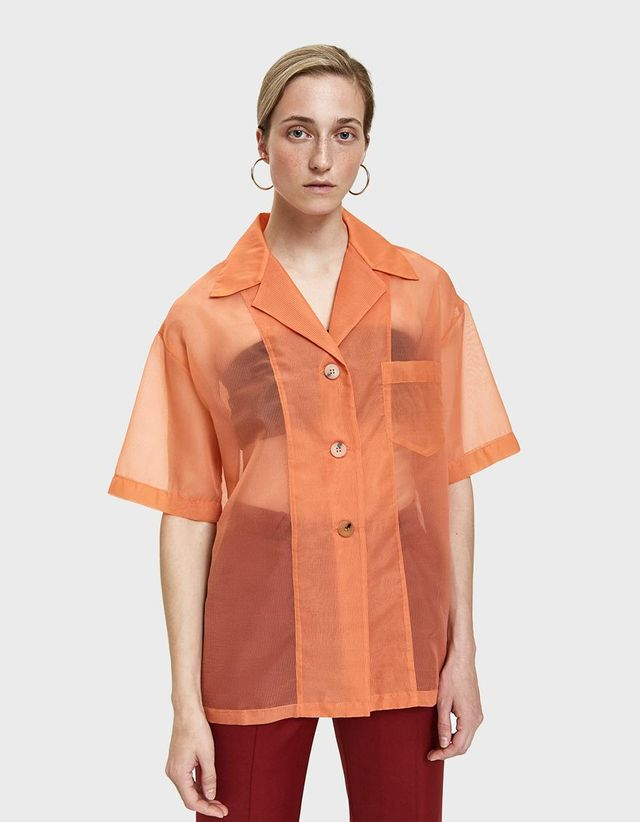 Relovo Sheer Bowling Shirt