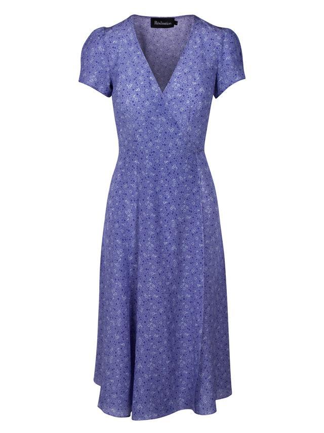ASOS CURVE Star Print Ruffle Wrap Mini Dress
