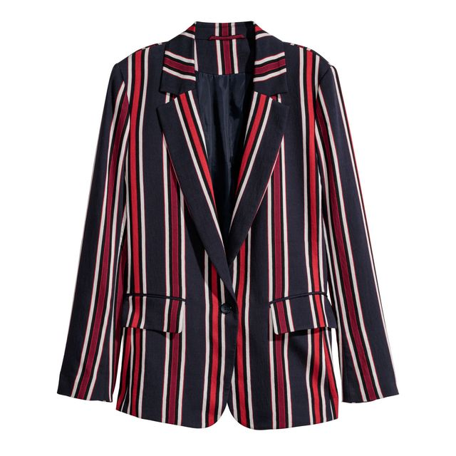 first-date outfit: striped blazer