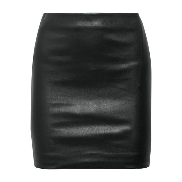 first-date outfit: leather miniskirt