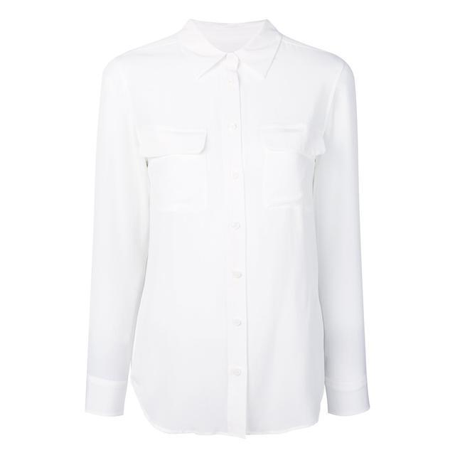 first-date outfit: silk shirt