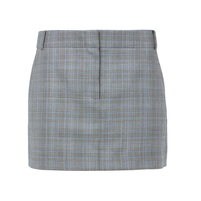 first-date outfit: houndstooth plaid skirt