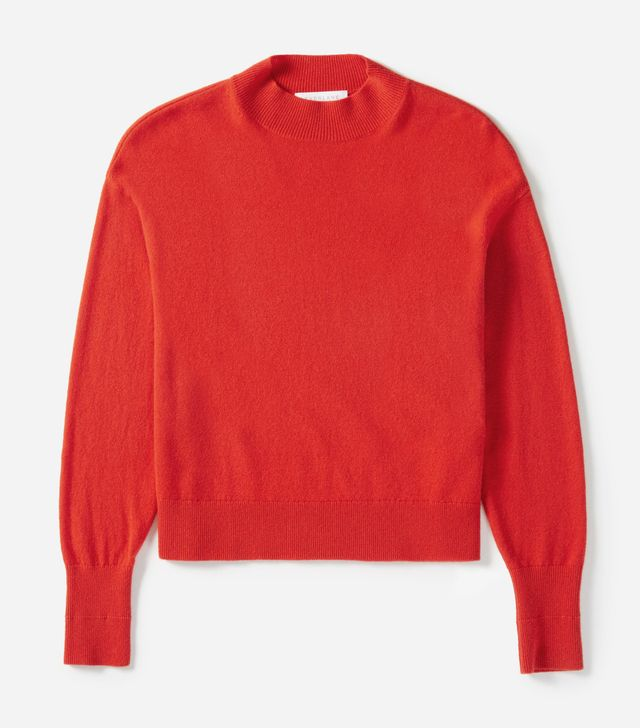 Cashmere Crop Mockneck Sweater by Everlane