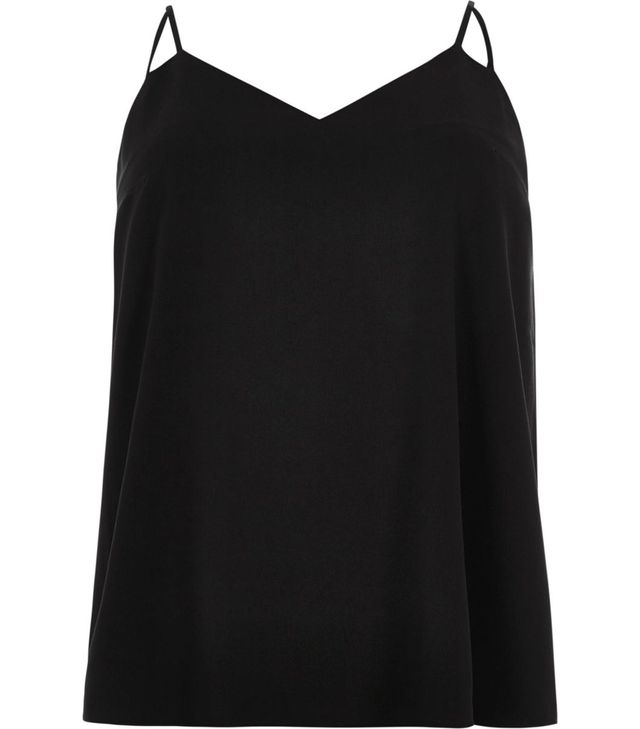 River Island Black Cut Out Strap Cami Top